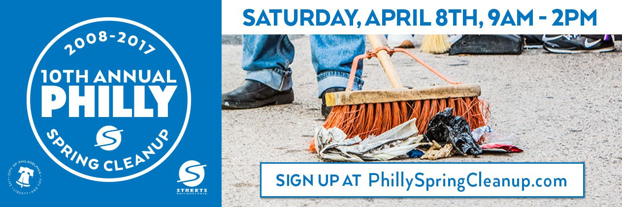 Philly Spring Cleanup, Saturday, April 8, 2017
