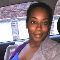 photo: woman in car