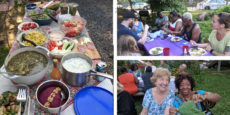 A Midsummer Night's Potluck at Hansberry Garden